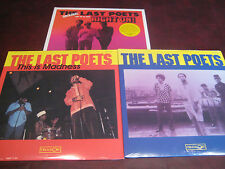 LAST POETS MADNESS AND S/T LIMITED EDITION VINYL CELLULOID LPS + RIGHT ON 2LPSET