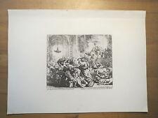 Rembrandt-Cristo impulsa los comerciantes procedentes del templo/impresiones