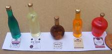 1:12 Scale 5 Assorted Bottles With Labels Dolls House Miniature Pub Bar Set 3
