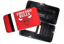 Chicago Bulls Ladies Clamshell Clutch Wallet -Nylon Jersey Fabric - New