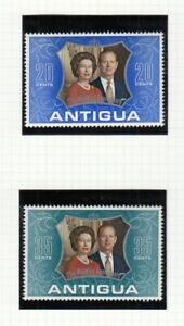 (85388) Antigua MNH Queen Prince Philip Silver Wedding unmounted mint 1972