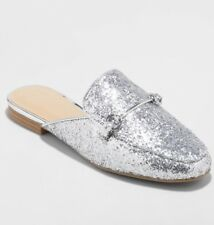 A New Day Womens Kona Slip-on Loafers Mules Silver Size 8 NEW