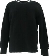Cuddl Duds Shaggy Sherpa Pullover Top Black M NEW A381801