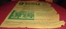 reklame blatt nsu wanderer team siege ausland fzg werk alt werbung 1930 top deko