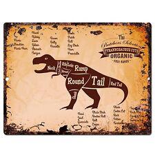 PP0670 Vintage Tyrannosaurus dinosaur Meat Cuts sign Home Shop Kitchen Decor