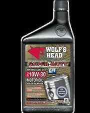 WOLF'S HEAD Super-Duty SAE 10W-30 Motor Oil (2 Cases = 24 Bottles)  836-91076-56