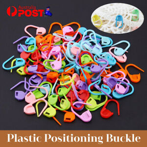 50/100/200Pcs Knitting Weave Crochet Locking Stitch Markers Holder Plastic Bulk