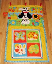 VINTAGE FISHER PRICE FOLD AND N GO BABY ACTIVITY PLAY MAT 1004 1987 DOG CAT