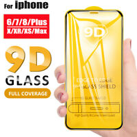For iPhone 6s 7 8 Plus X XR XS Max 9D Full Cover Tempered Glass Screen Protector