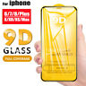 9D Full Cover Tempered Glass Screen Protector For iPhone 6s 7 8 Plus X XR XS Max