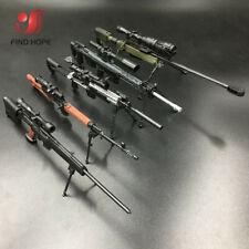 1/6 AWM MK14 DSR PSG-1 SVD TAC Sniper Rifle Weapon Assemble Toy Gun Model 6Pcs