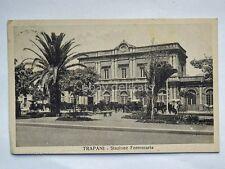 TRAPANI Stazione ferroviaria vecchia cartolina