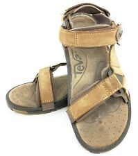 Teva Sport Sandals Women's Brown Suede Leather 6026 - Size 7 Adjustable Strap