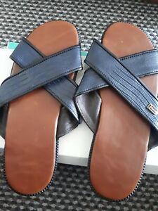 mens sandals colour blue size 44