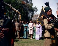 First Lady Jacqueline Kennedy listens to bagpipes in Pakistan New 8x10 Photo