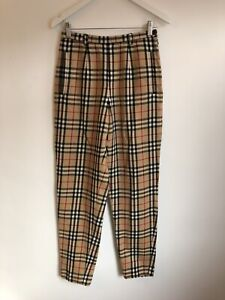 Vintage 1970s Bety Barclay Red Lable Nova Check Plaid Trousers Burberry Size 10