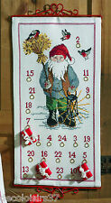 Permin  34-4618  Calendrier de l'Avent Santa Claus  Point de Croix Compté