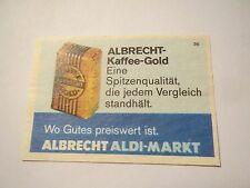 Albrecht Aldi-Markt - Albrecht-Kaffee Gold / Streichholzetikett