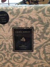 Laura Ashley Mia Twin 2 Piece Quilt Set NIP Diluted Green/White Reversible