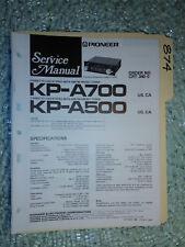 Pioneer kp-a700 a500 service manual original repair book stereo car radio tape