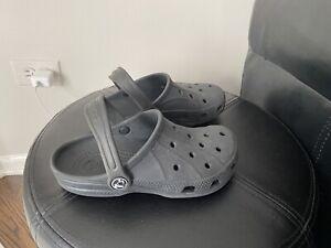 Crocs Kids Boys Sandals Summer Black rubber Sz 12 13 ~ NICE ~