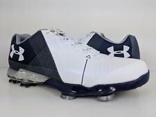 Under Armour Men's Spieth 2 Golf Shoes Blue White Gore-Tex (3000165-101) sz 7