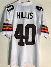 Reebok Premier NFL Jersey Cleveland Browns Peyton Hillis White sz L