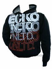 ECKO MENS RICHMOND TRACKSUIT TOP BLACK OVERHEAD HOODED SWEATSHIRT FLEECE