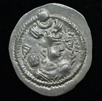 SASANIAN Kings King Varhran IV drachm 388-99 AD. Silver dirhem 4.15 grams 27 mm