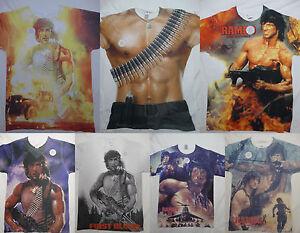 Rambo Movie Stallone John Rambo Front Only Sublimation Print T-Shirt