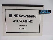 NOS Kawasaki Micro-K Parts Catalog KX125 KX 125 1999 99 99960-0087-01