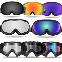 HD Clear Spherical Skiing Goggles Over the Glasses Anti Fog Lens Anti-Slip Strap