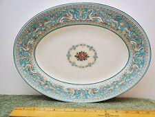 "Wedgwood Florentine Turquoise 14"" Oval Serving Platter"