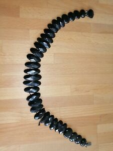 Whitby jet mourning necklace