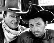"JOHN WAYNE ROBERT MITCHUM ON SET OF THE FILM ""EL DORADO"" - 8X10 PHOTO (AA-059)"