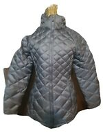 The North Face Women's Flare Down 550 Jacket Puffer Coat charcoal gray  Size XS