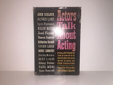 Actors Talk about Acting 1961 First Print Hardcover w/ Dust Jacket Funke & Booth