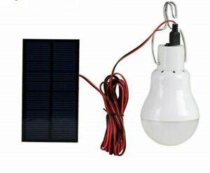 Solar Panel 12 LED Bulb Portable solar Power Lamp Garden Light Outdoor Spotlight