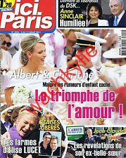 Ici Paris 3444  04/07/2011 Mariage Albert Charlène Monaco