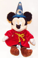 "Sorcerer Mickey Mouse Plush 13"" Disney Parks Stuffed Animal Toy Fantasia Wizard"