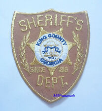"""The walking dead SHERIFF's DEPT king county georgia Badge patch 4.25"""""""
