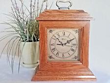 Oak Marcel Quartz Mantel Shelf Clock w/ Westminster Chime