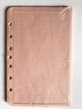 Vintage 1994 Pink Lined Pages For Flanklin Quest 7 Ring Organizer New Sealed