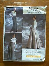 Vintage Vogue American Des. #1934 Oscar de la Renta skirt pattern uncut 12,14,16