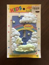 Glow In The Dark Unicorn Children Toddler Baby Room Light Switch Plate Cover