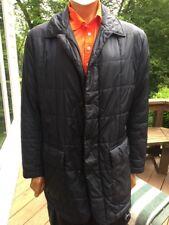 """Peter Millar Mens Half Parka Jacket Barn Coat Black sz L Rare 35"""""""