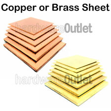 BRASS OR COPPER SHEET 0.55 mm to 3.0 mm Guillotine Cut Metal Plate