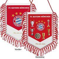 Banner FC Bayern München Mia san mia Pokale Wimpel Fahne Sterne Autobanner FCB
