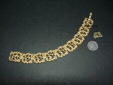 Vintage CROWN TRIFARI - gold tone - GOLD NUGGET LINK BRACELET