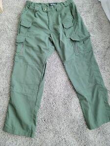 Blackhawk Warrior Wear Tactical Grip Strip Waist Multi Pocket Green Pants 38/34